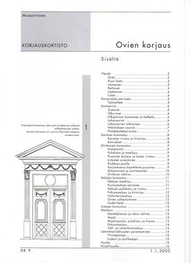 Museoviraston korjauskortisto - Kirjallisuus - 949-061-9 - 3