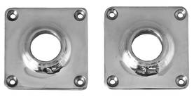 Angular keyhole cover for door handles. - Key, lock and cover plates - 118-014-9