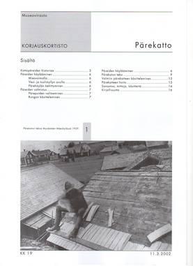 Museoviraston korjauskortisto - Kirjallisuus - 949-061-19 - 3