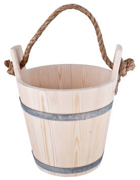 Wooden bucket - Wood items and brushes - 949-037-9 - 1