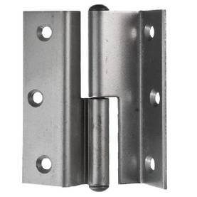 Door and window hinge, rabbeted - Door hinges with round tips - 105-006R - 1