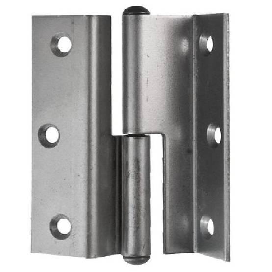 Door and window hinge, rabbeted - Door hinges with round tips - 105-006R - 1